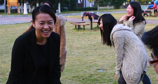 Laughing yoga at Sun Island Resorts