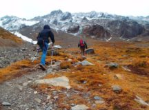 Trekking to Martial Glacier