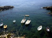 Fishing boats on the Italian Riviera in Cinque Terre