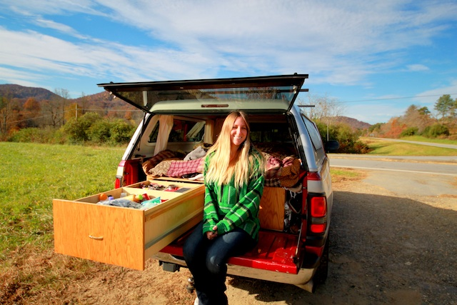 Truck living. Photo courtesy of TreePot Travels.
