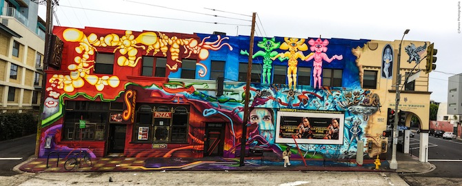 Checking out the vibrant street art in Los Angeles -- this photo was taken in Venice -- is a budget-friendly activity to enjoy. Photo courtesy of Panos Photographia.