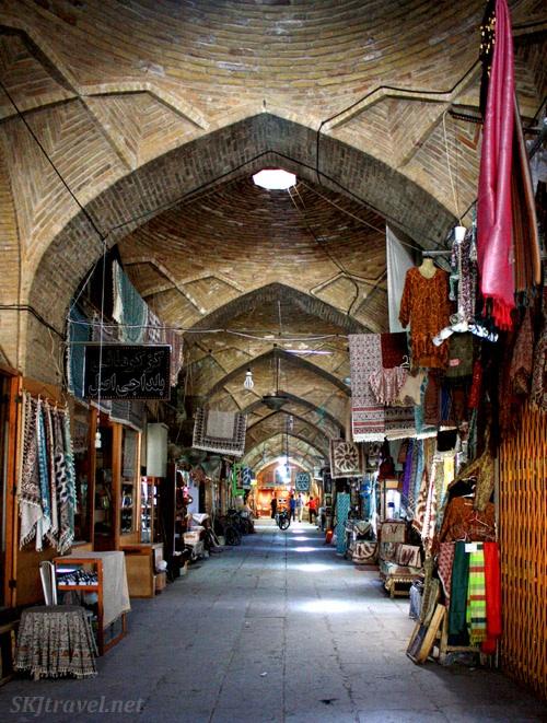 The bazaar during siesta in Isfahan