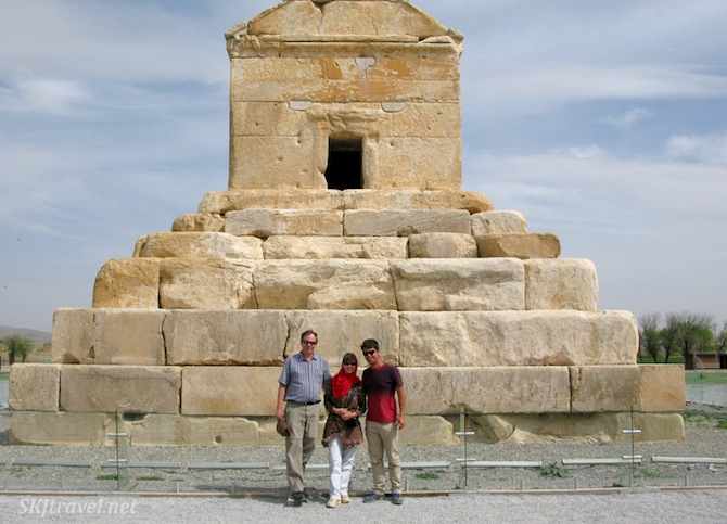 Standing in front of the tomb of Cyrus the Great