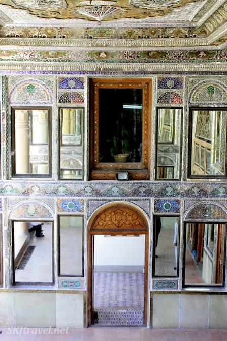 Mirrored porch at Narenjestan in Shiraz