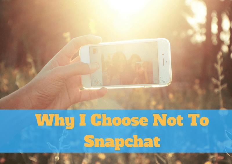don't use snapchat