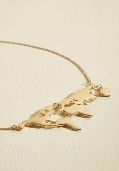 Chic Gold Map Necklace