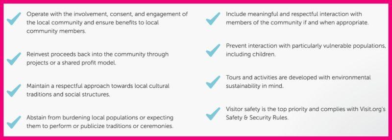 visit.org vetting criteria