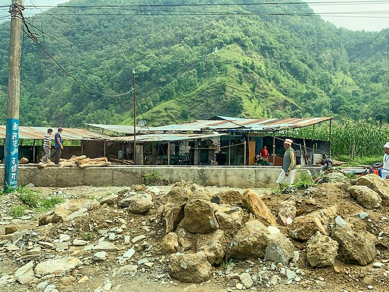 Navigating bad roads in Nepal