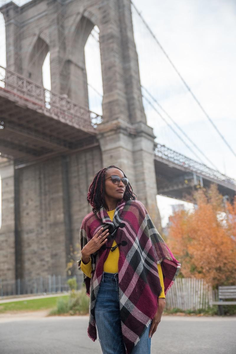 nyc influencer shoot brooklyn bridge park